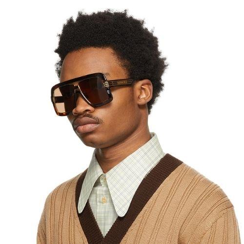 GUCCI Square Sunglasses SSENSE